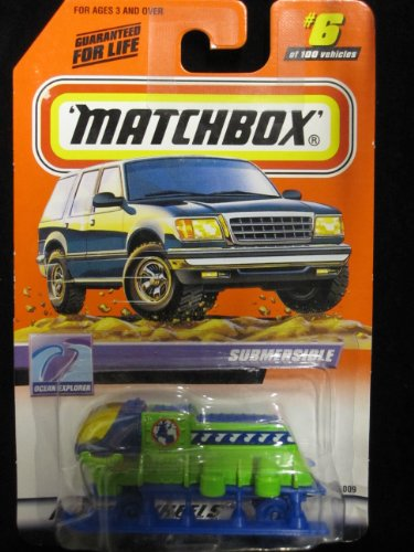 Submersible (lime green/ Blue) Matchbox Ocean Explorer Series #6