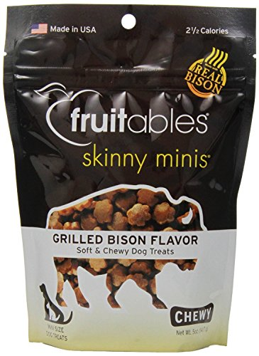 Fruitables Skinny Minis 5 ounce Grilled Bison Chewy Dog Trea