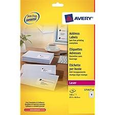 Avery L7161-40 Étiquettes adresse Facile à décoller (Import Royaume Uni)