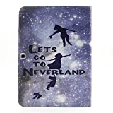 Galaxy Tab 4 10.1 Case, Leather Case with Flip Stand for Samsung Galaxy Tab 4 10.1, New [Card Slots] [Stand Feature] Colorful Premium Flip Side Folio Style Foldable PU Leather Wallet Case Skin Cover Protection for Samsung Galaxy Tab 4 10.1 inch T530 + One Stylus - [Fliying to Neverland]