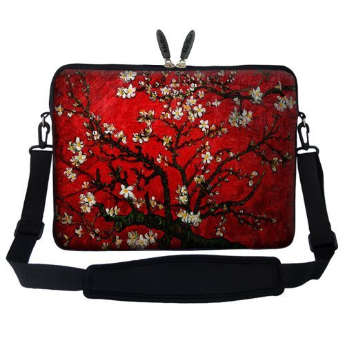 17 17.3 inch Neoprene Laptop Carrying Case with Hidden Handle and Shoulder Strap