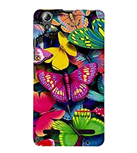 Vizagbeats butterflies colors Back Case Cover for Lenovo A6000
