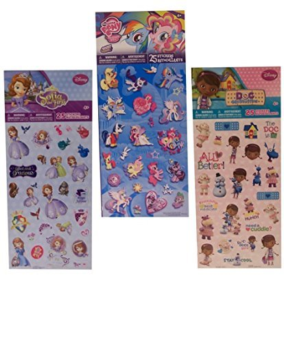 Doc McStuffins - My Little Pony - Sofia the First - Girls Sticker Pack