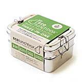 ECOlunchbox Three-in-One Stainless Steel Food Container Set
