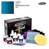 SUZUKI ALTO / PARADISE BLUE MET - ZKY / COLOR N DRIVE TOUCH UP PAINT SYSTEM FOR PAINT CHIPS AND SCRATCHES / PLUS PACK