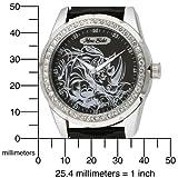 Marc Ecko Men's E95042G7 Supreme Black Leather Analog Leather Strap Watch
