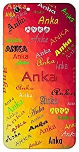 Anka (Grace Favour Apricot from Nara Grain) Name & Sign Printed All over customize & Personalized!! Protective back cover for your Smart Phone : Samsung Galaxy A-7