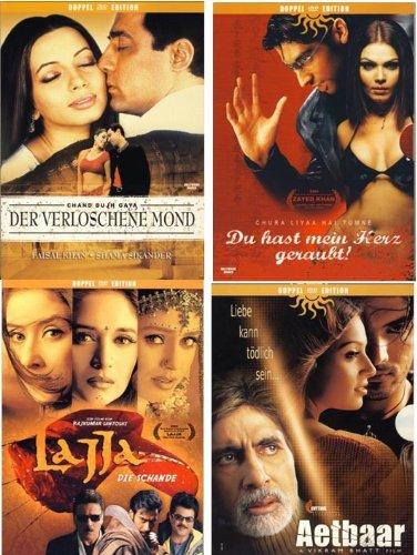 Quattro Bollywood Set 3: Lajja - Aetbaar - Du hast mein Herz geraubt - Der verloschene Mond [4 DVDs]