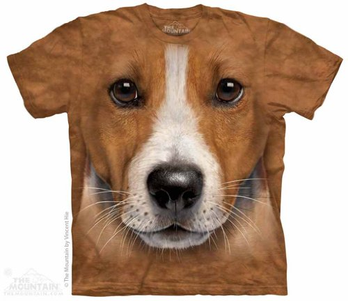 Big Face Jack Russell The Mountain Tee Shirt Child S-XL Adult S-5XL