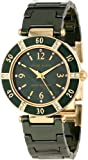 Anne Klein Womens 10/9416GMGN Swarovski Crystal Accented Gold-Tone Green Ceramic Bracelet Watch
