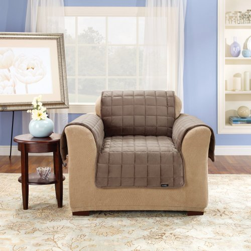 Sure Fit Deluxe Chair Pet Throw, Sable