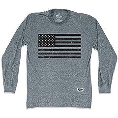 American Black Flag Soccer Long Sleeve T-Shirt