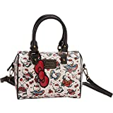 Loungefly Hello Kitty Tattoo Pebble Shoulder Bag (Tan/Red)