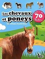 LES CHEVAUX ET PONEYS - 70 STICKERS