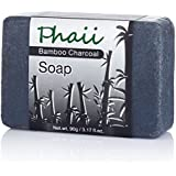Bamboo Activated Charcoal Soap Bar   All Natural & Organic   Helps With Acne, Psoriasis & Eczema   Powerful Skin Detoxification   100% Safe & Alternative