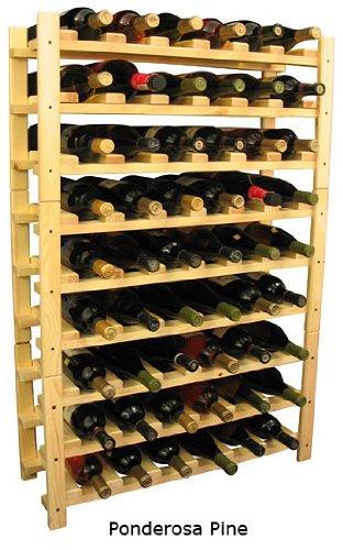 For Sale 54 Bottle Stackable Wooden Wine Rack Ponderosa
