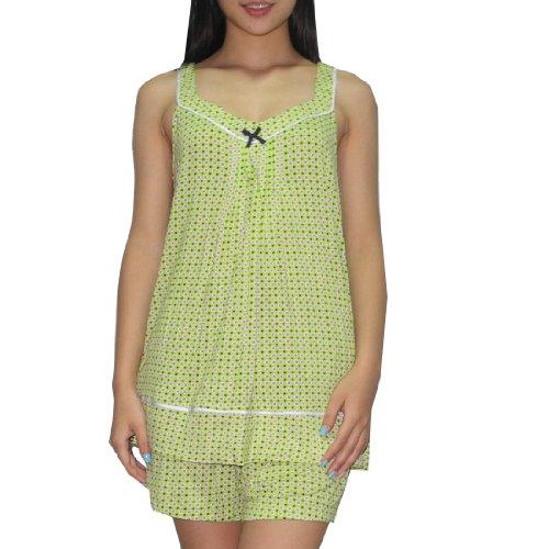 2pc-sleepwear-set-kensie-damen-wunderschone-pyjama-top-shorts-set-2xl-grun