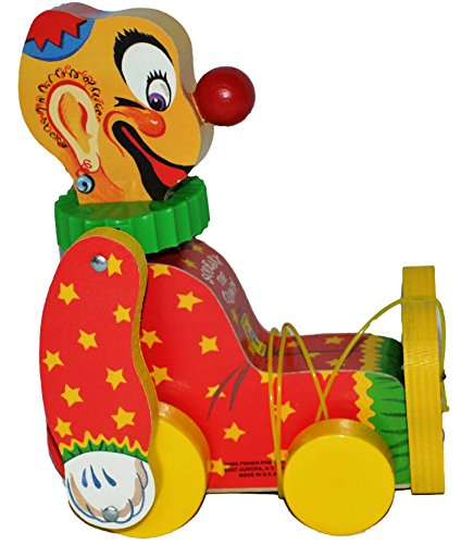 Fisher Price Squeaky the Clown Limited Edition #6593 Pull Toy - 1