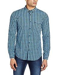 Basics Men's Casual Shirt (8907554051675_16BSH34124_X-Large_Aqua)