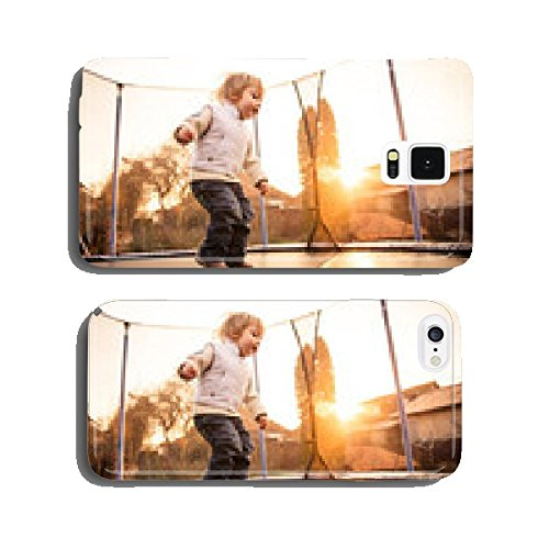 Child-jumping-trampoline-at-sunset-cell-phone-cover-case-Samsung-S5