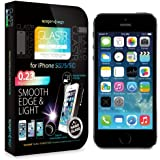 Spigen iPhone 5S / 5C / 5 Screen Protector Glass [GLAS.tR NANO SLIM] (0.23mm) Thin Lightweight Rounded Edge Tempered Glass Screen Protector Clear for iPhone 5S / 5 (SGP10512)