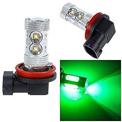 See 10Pcs Green H10 50W CREE LED Car Truck Led Headlights Vehicle Fog Lamps Driving Bulbs Details
