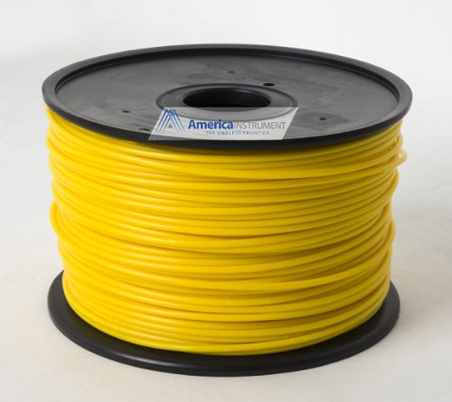 Jet - PLA (3mm, Yellow color, 1.0kg =2.204lbs) Filament on Spool for 3D Printer MakerBot RepRap MakerGear Ultimaker & Up!