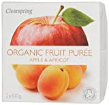 Clearspring Organic Apple and Apricot Fruit Puree 2x100 g (Pack of 12)