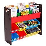 (OSJ)おもちゃボックス 本棚付 TOYBOX おもちゃ収納ラック【1年保証】 (ブラウン) ランキングお取り寄せ