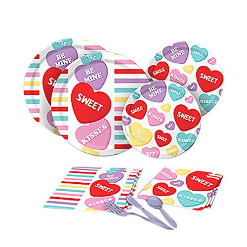 Shindigz Valentines Day Decorations Candy Sweets Basic Party Pack