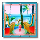 dpp_21306_1 Susan Brown Designs Places Themes - Sitting on the Patio - Wall Clocks - 10x10 Wall Clock