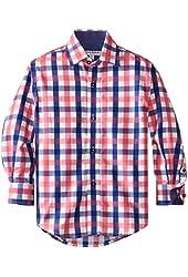 Isaac Mizrahi Little Boys' Two-Tone Check Shirt
