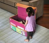 Kids Large Collapsible Toy Chest Pink By: Great Useful Stuff