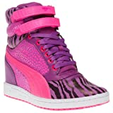 Puma Sky Wedge Reptile Trainers Pink