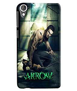 Blue Throat Arrow Man Printed Designer Back Cover/ Case For HTC Desire 820