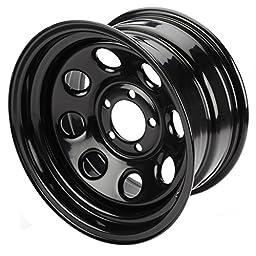 Cragar 3975812: Wheel, Soft 8, Steel, Black, 15 in. x 8 in., 5 x 4.5 in. Bolt Circle, 4 in. Backspace, Each
