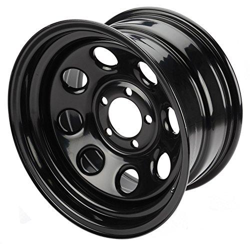 Cragar-3975812-Wheel-Soft-8-Steel-Black-15-in-x-8-in-5-x-45-in-Bolt-Circle-4-in-Backspace-Each