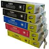 5 CiberDirect Compatible Ink Cartridges for use with Epson Stylus S22 Printers.