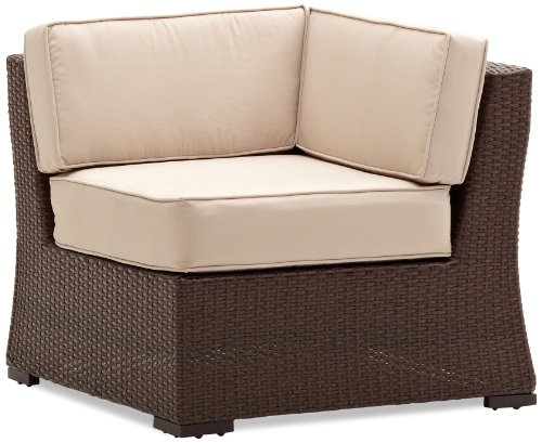 Strathwood Griffen All-Weather Wicker Sectional Corner Chair, Dark Brown photo