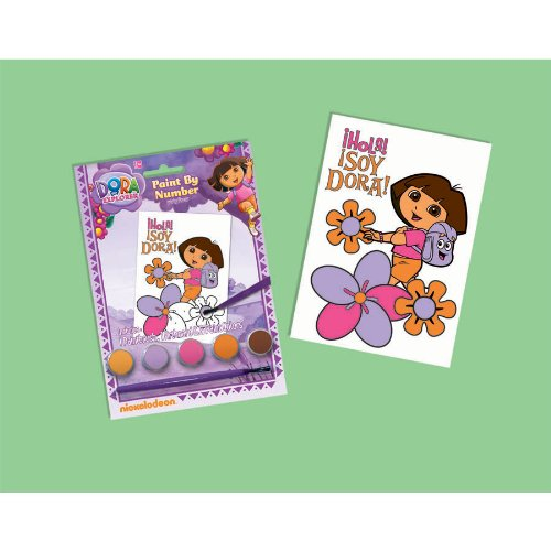 Dora Party Favors - 1 Paint by Number Kit - 1