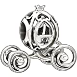 New Authentic Chamilia Disney - Cinderella's Coach Charm Bead 2010-3173 Comes with Branded Box