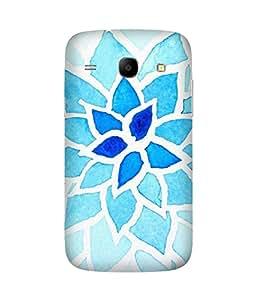 Blue Flower Samsung Galaxy Core I8260 Case