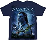 The Avatar Silhouette Battle Glow-in-the-Dark Toddler Navy T-shirt Tee