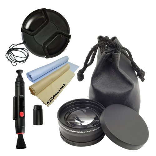 Lens Accessory Kit For 52Mm Nikon Dslr D3200 D3100 D7100 D5200 D5100 D800 D700 D600 D40 D60 D80 D90 D3000 D5000 D7000 With (Nilkkor 18-55Mm, 55-200M, 50Mm F/1.8D) Lenses And More! --- Includes: 52Mm 2.0X Telephoto High Definition Lens + 52Mm Center Pinch