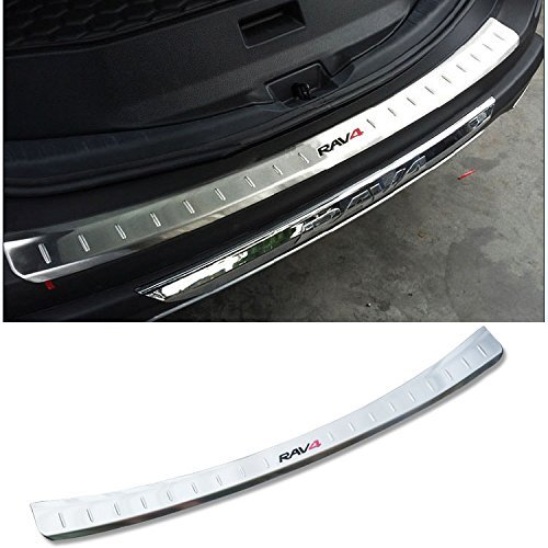 GOOACC Stainless steel Rear Bumper Tailgate Sill plate cover for Toyota RAV4 2013 2014