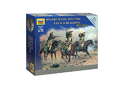 Zvezda Models 1/72 French Dragoons Napoleonic Wars Model Kit - 1
