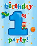 PACK OF 8 FUN AT ONE BLUE BOYS 1ST BIRTHDAY PARTY INVITATION CARDS WITH ENVELOPES
