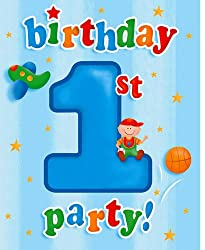 Creative Converting Fun at One Happy First Birthday Boy Party Invitations, 8 Count