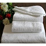 Homescapes Turkish Cotton Hand Towel White Very Soft and Absorbent, 500 GSM Heavy Weight for everyday Luxuryby Homescapes