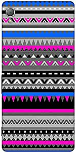 Snoogg Aztec Digital Pattern Designer Protective Back Case Cover For Sony Xpe...